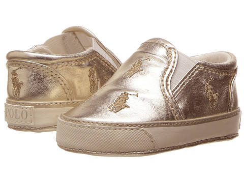 Polo Ralph Lauren Kids Bal Harbour Repeat (Infant/Toddler) - Gold Metallic/Gold Pony