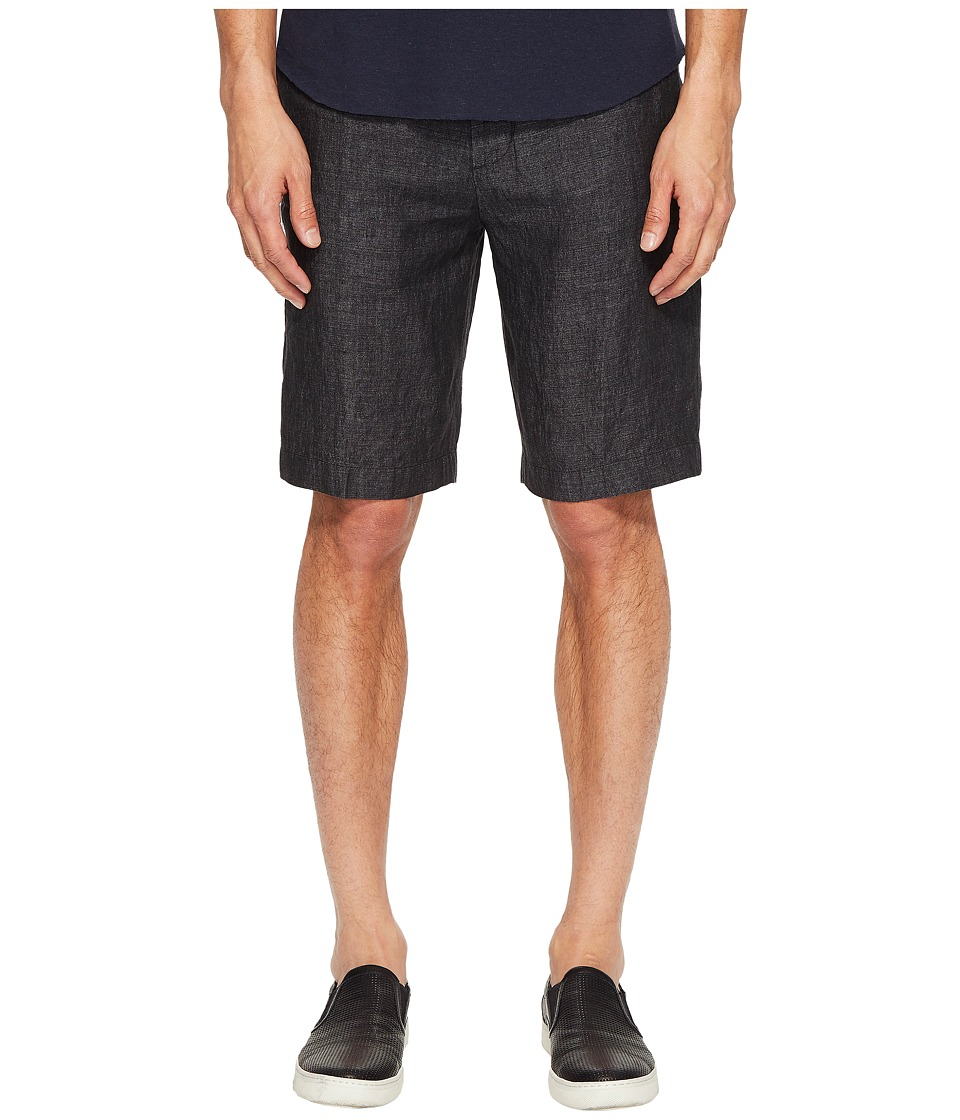 Vince Relaxed Linen Shorts (Charcoal) Men