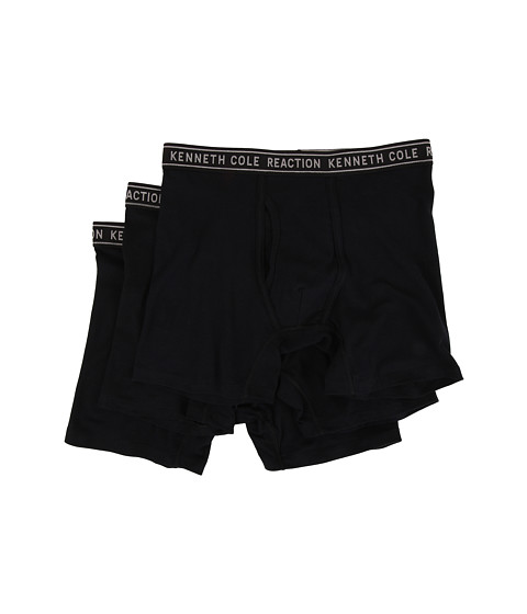 Kenneth Cole Reaction 3-Pack Boxer Brief - Cotton Stretch - Black