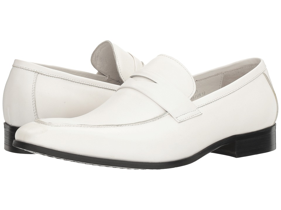 60s Mens Shoes | 70s Mens shoes – Platforms, Boots Carrucci - Penny Wise White Mens Shoes $77.99 AT vintagedancer.com