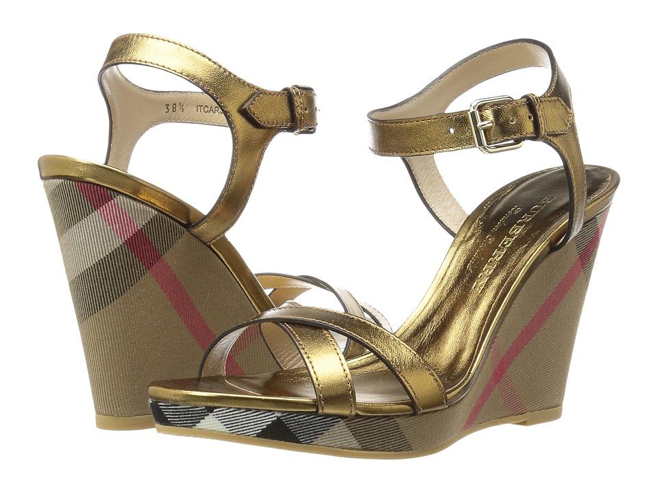 Burberrys Rastrickson (Heritage Gold) Women's Wedge Shoes