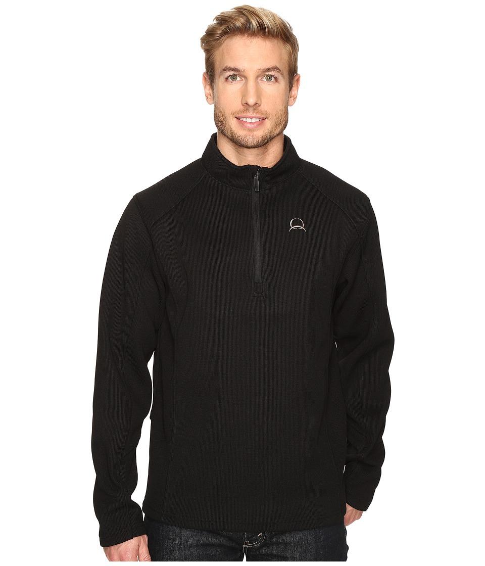 Cinch Sweater Fleece 1/4 Fleece Pullover (Black) Men