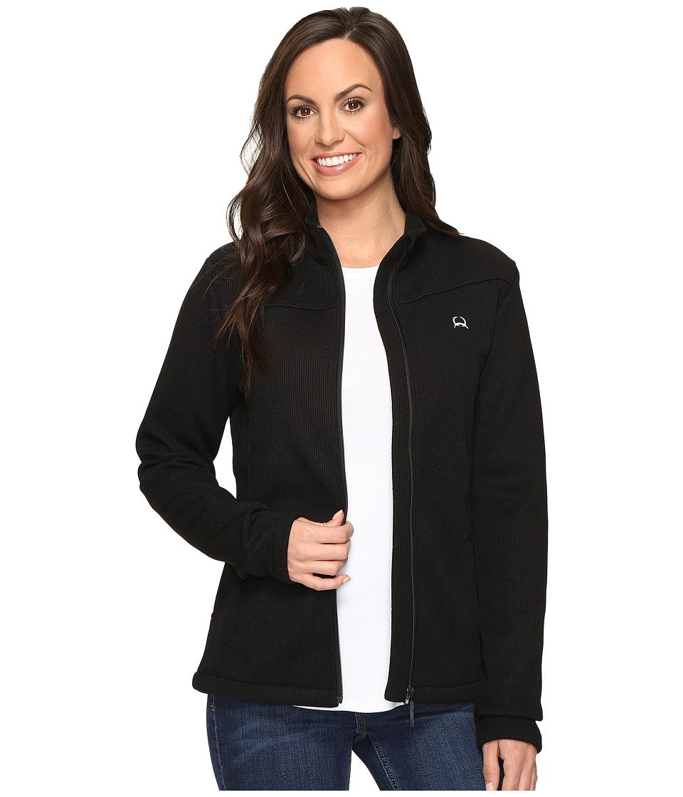 Cinch Mock Neck Sweater Fleece (Black) Women