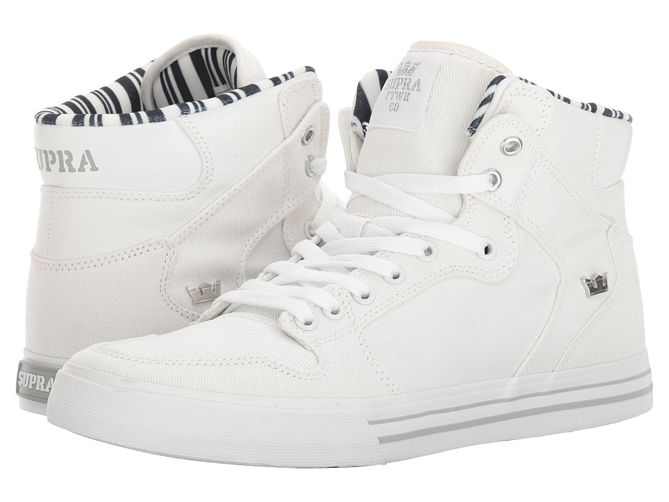 Supra Vaider (White Denim/White) Skate Shoes