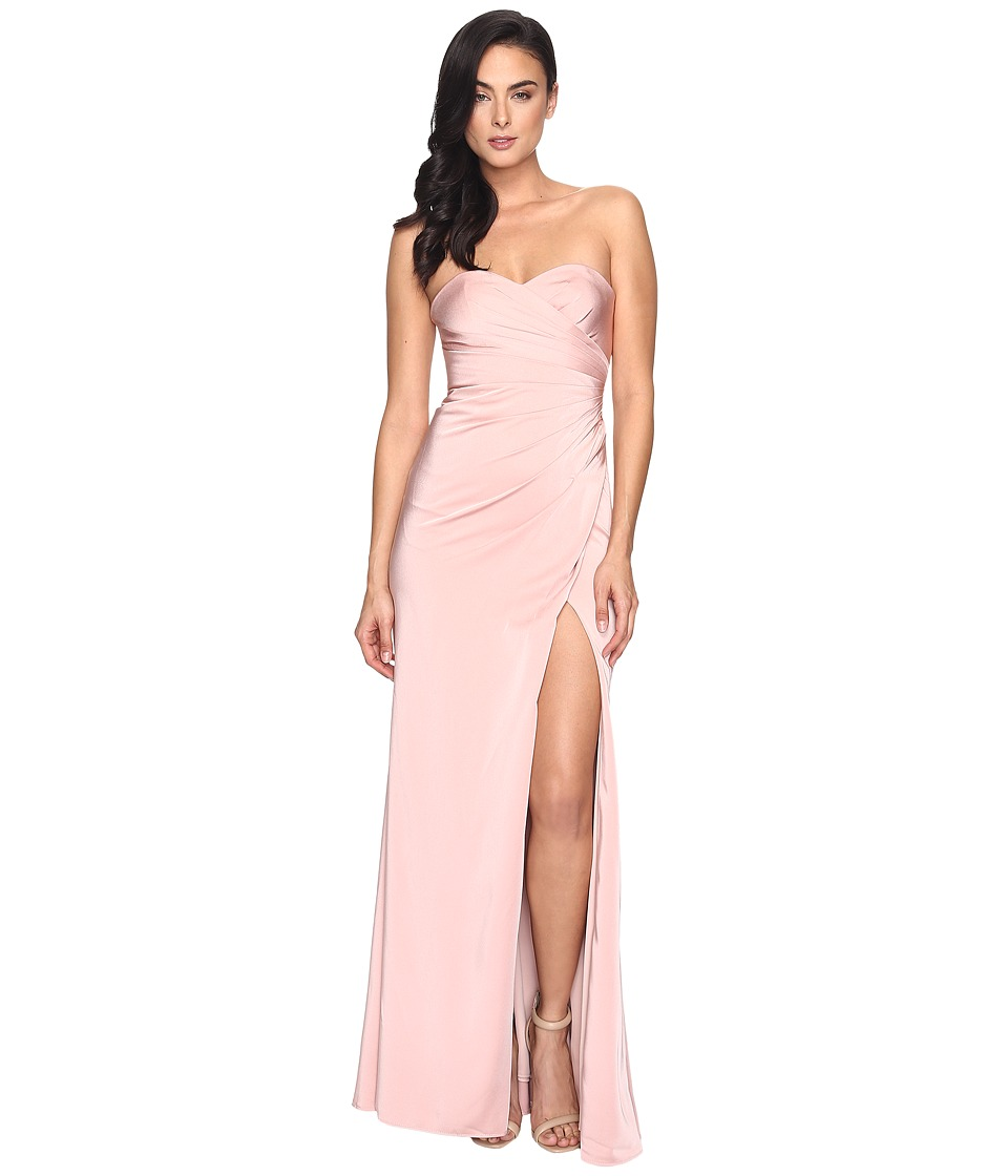 Faviana Faille Satin Strapless w/ Side Draping 7891 (Dust...