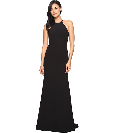 Faviana Crepe Halter w/ Strap Sides S7913 - Black