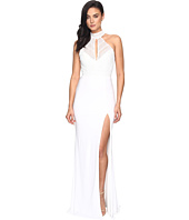 Faviana - Lace Halter w/ Keyhole & Jersey Skirt S7932
