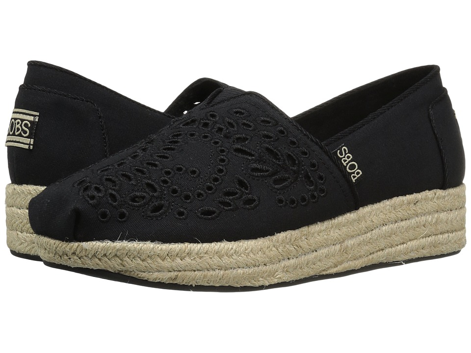 BOBS from SKECHERS Highlights Sun Flowers (Black) Women