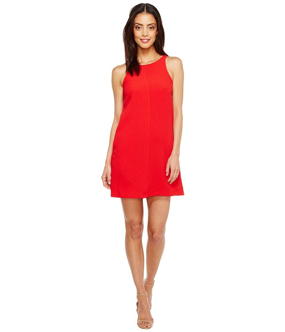 Brigitte Bailey Crepe Tank A-Line w/ Pockets Dress (Red) Women