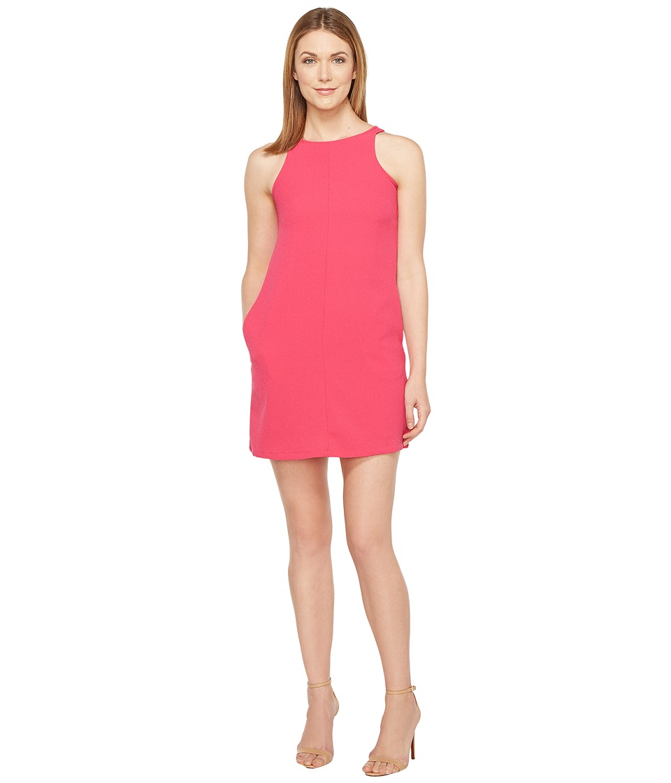 Brigitte Bailey Crepe Tank A-Line w/ Pockets Dress (Fuchsia) Women