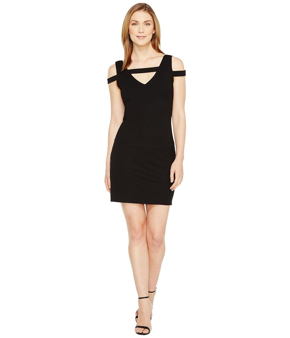 Christin Michaels Galia Strappy Bodycon Dress (Black) Women