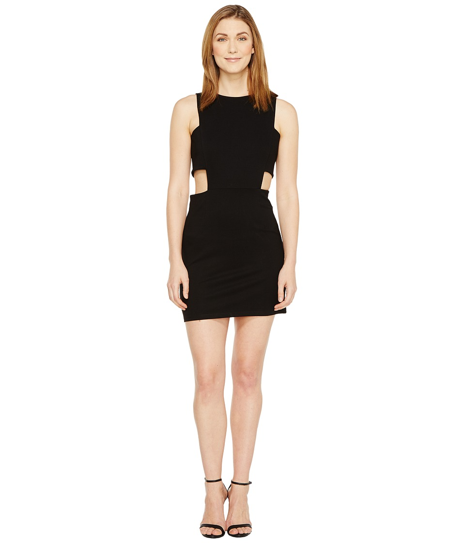 Christin Michaels Grecia Sleeveless Bodycon Dress with Side Cut Outs (Black) Women