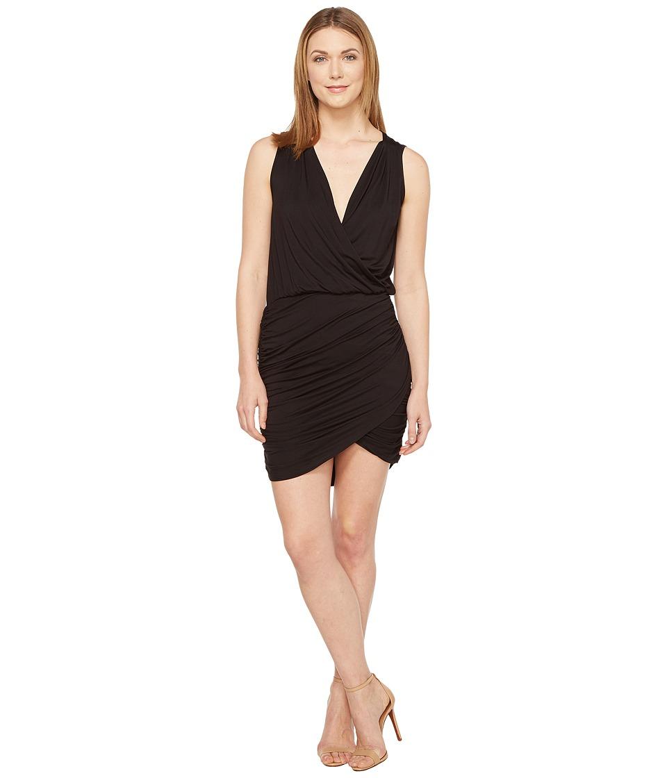 Culture Phit Merritt Sleeveless Ruched Crossover Dress (Black) Women