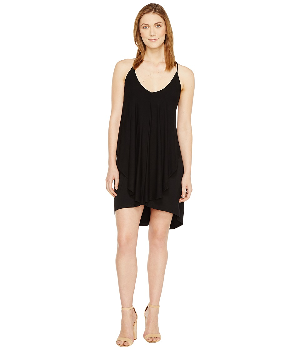 Culture Phit Dalmar Spaghetti Strap Ruffle Dress (Black) Women
