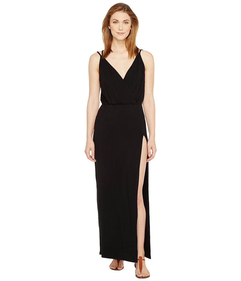 Culture Phit Elea Spaghetti Strap Maxi Dress with Side Slit (Black) Women