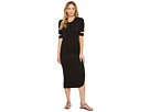Quinn Luxe French Terry Midi Dress with Sleeve Cut Outs