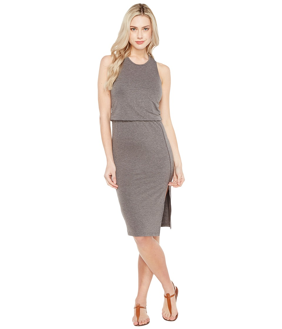 Culture Phit Bisette Sleeveless Midi Dress with Side Slit (Charcoal) Women
