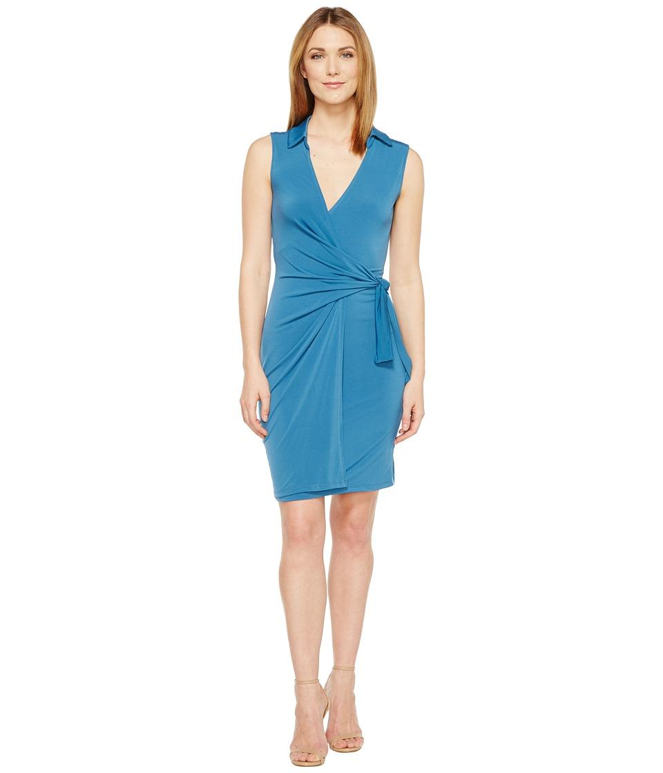Christin Michaels - Gracy Sleeveless Wrap Dress with Collar
