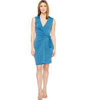 Christin Michaels - Gracy Sleeveless Wrap Dress with Collar