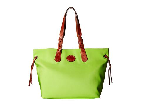 Dooney & Bourke Nylon Shopper - Apple Green/Tan Trim