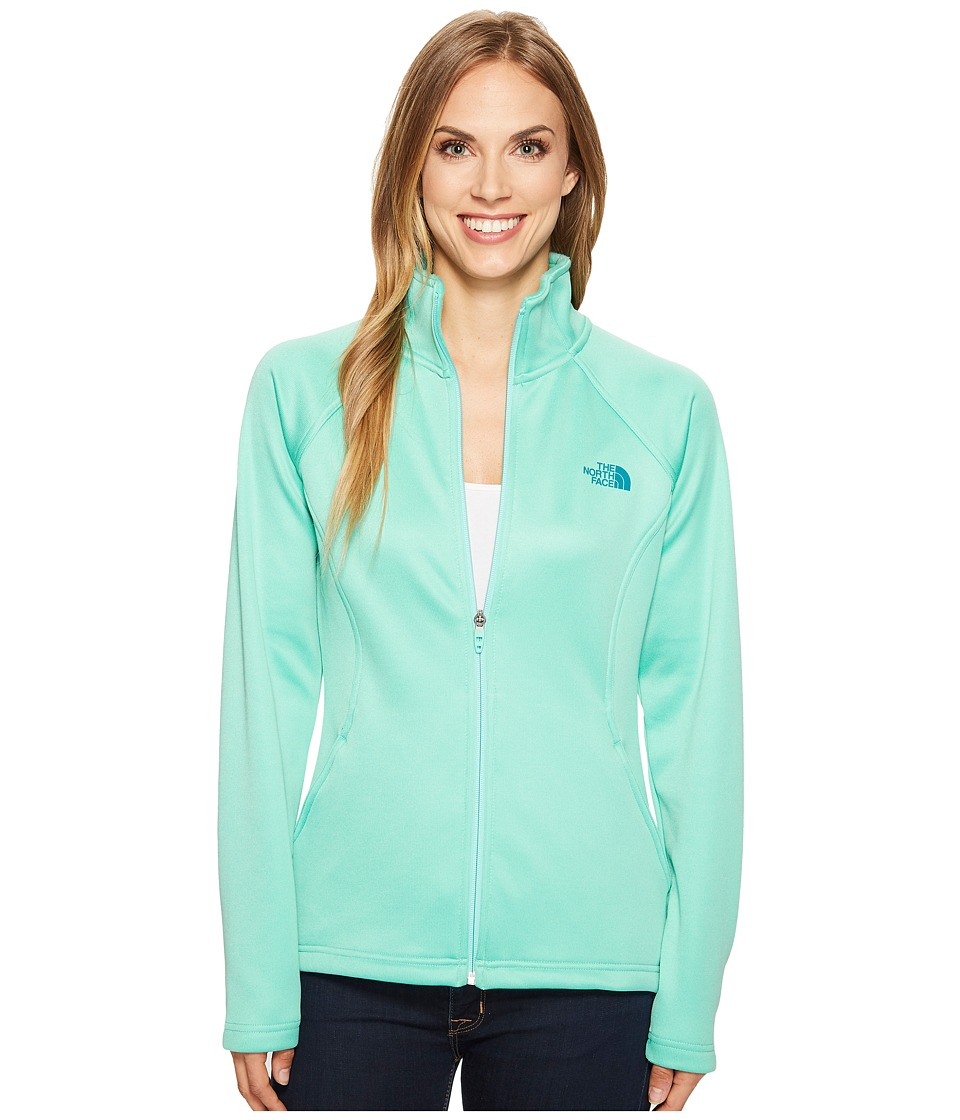 The North Face Agave Full Zip (Bermuda Green Heather/Harbor Blue) Women