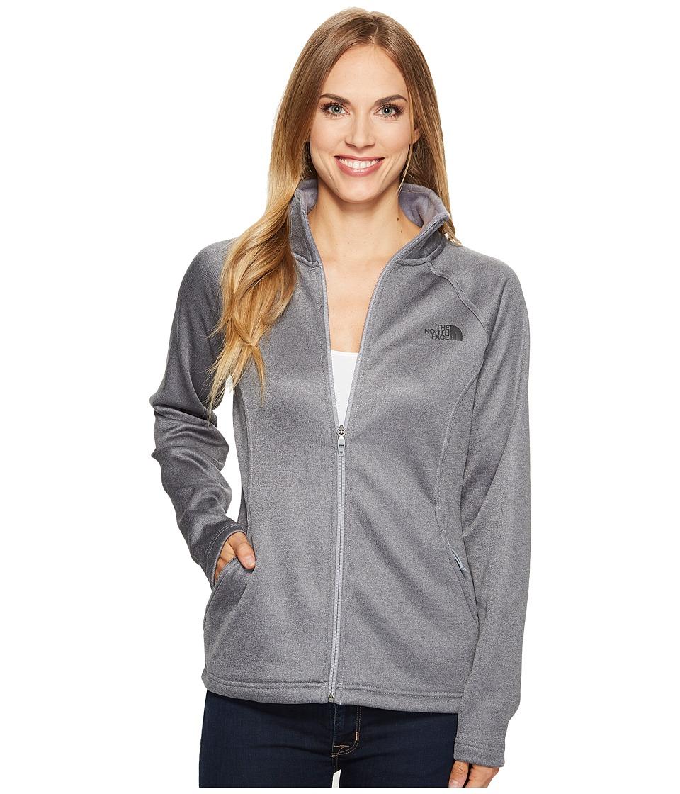 The North Face Agave Full Zip (TNF Medium Grey Heather/Asphalt Grey/Mid Grey) Women