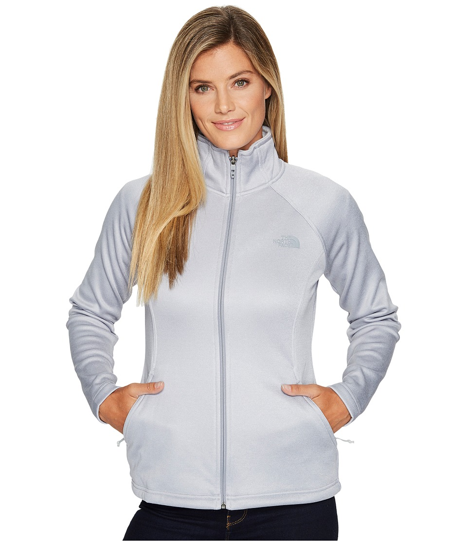 The North Face Agave Full Zip (TNF Light Grey Heather/Mid Grey/High-Rise Grey) Women