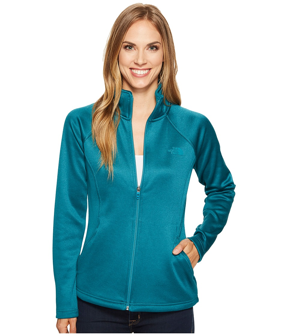 The North Face Agave Full Zip (Harbor Blue Heather/Harbor Blue) Women
