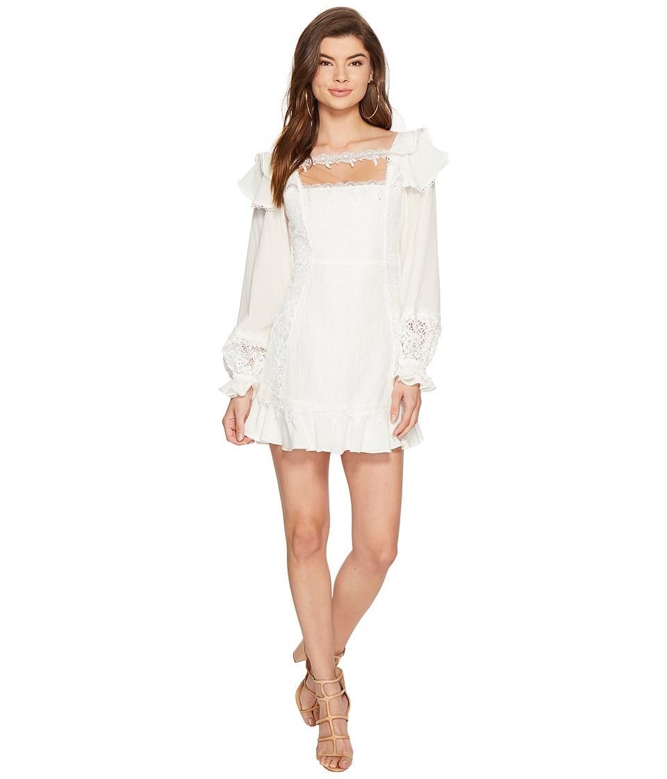 For Love and Lemons - Crema Silk Linen Dress