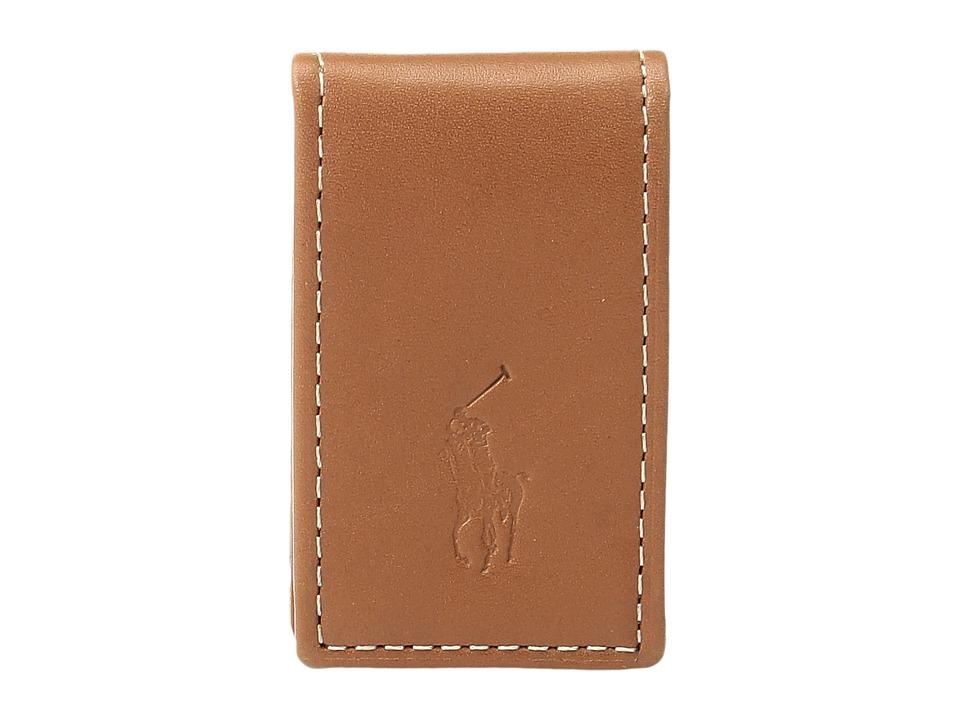 Ralph Lauren Calf Leather Money Clip (Brown) Wallet