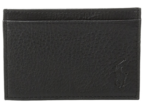 Polo Ralph Lauren Pebble Leather Slim Card Case - Black