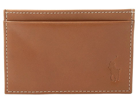 Polo Ralph Lauren Calf Leather Slim Card Case - Brown