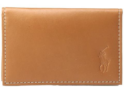 Polo Ralph Lauren Calf Leather Slim Card Id - Brown