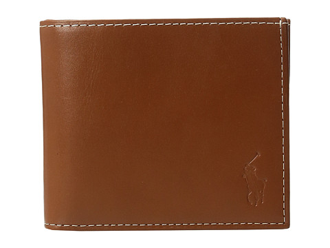 Polo Ralph Lauren Calf Leather Billfold - Brown