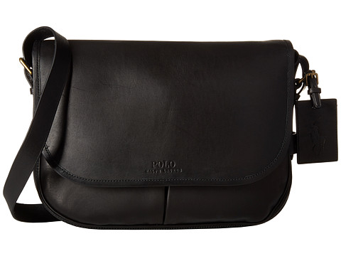 Polo Ralph Lauren Core Leather Messenger - Black