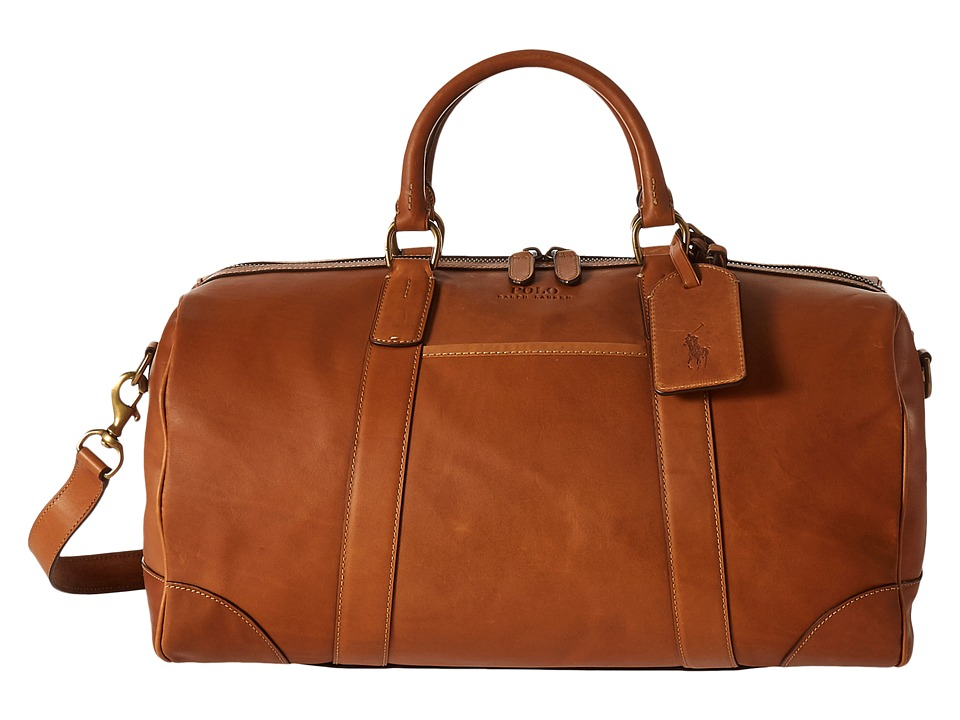 Polo Ralph Lauren Core Leather Duffel (Cognac) Duffel Bags
