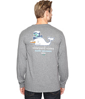Vineyard Vines - Long Sleeve Snowman Whale Pocket T-Shirt
