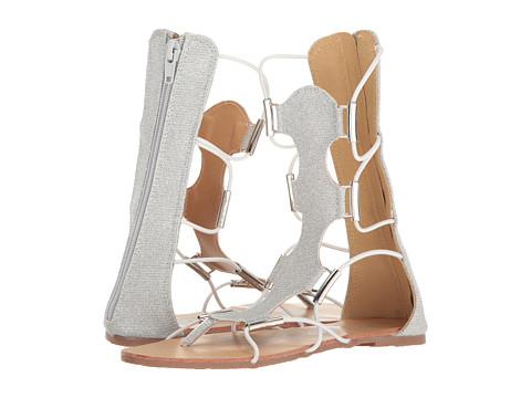 kensie girl Kids Bungee Gladiator Sandal (Little Kid/Big Kid) - Silver