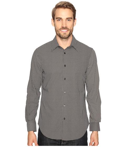 Perry Ellis Printed Geometric Circle Shirt - Black