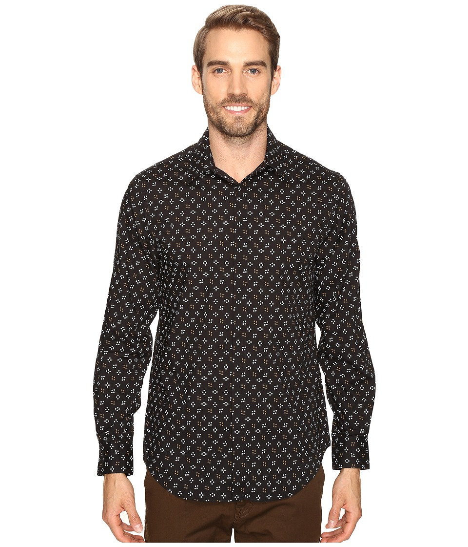 Perry Ellis Stretch Mini Star Dot Shirt (Black) Men