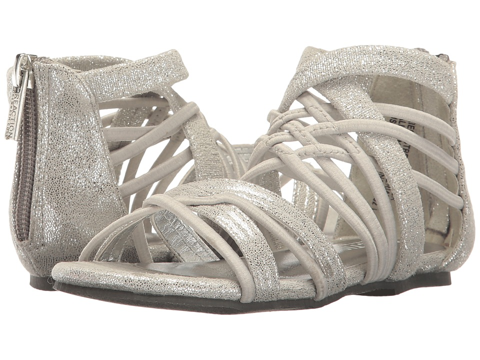 Kenneth Cole Reaction Kids - Kiera Stretch (Toddler) (Silver) Girls Shoes