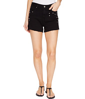 Paige - Margot Shorts in Noir Studded Hart