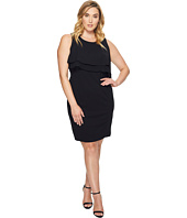 Taylor - Plus Size Double Tier Bodice Stretch Crepe