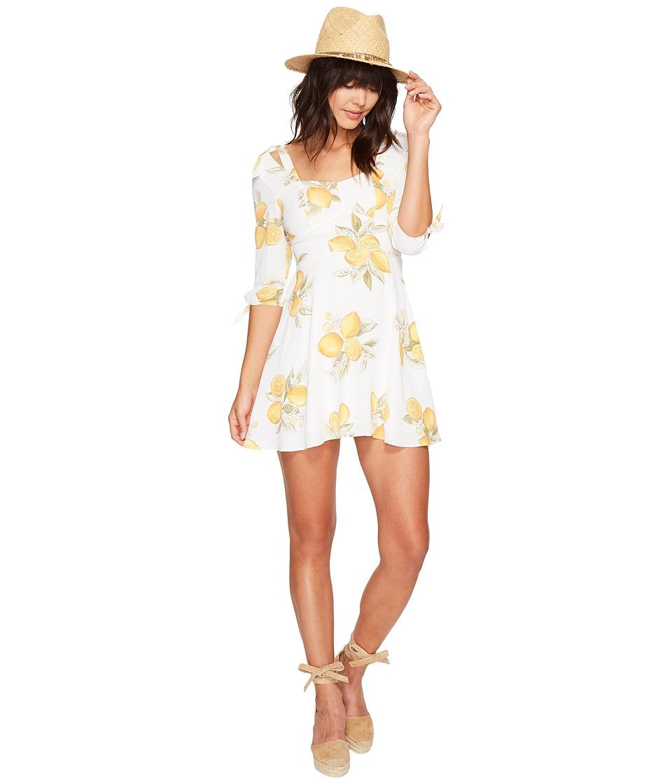 For Love and Lemons Limonada Mini Dress (Lemon) Women
