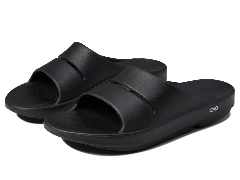 OOFOS - OOahh Slide Sandal (Black) Sandals