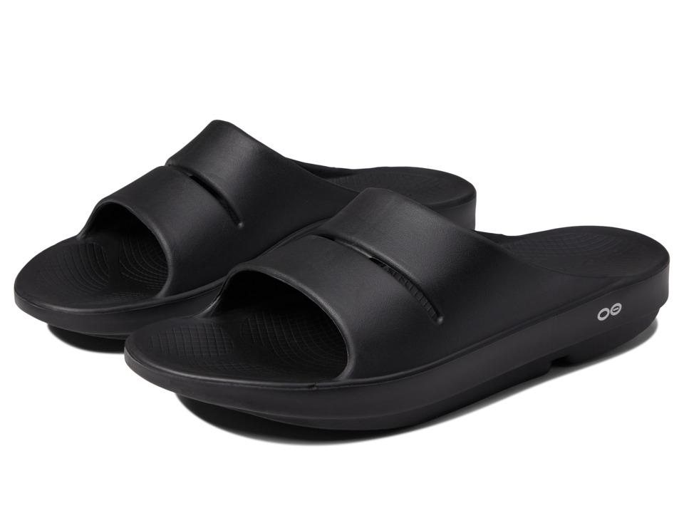 OOFOS - OOahh Slide Sandal (Black) Sandals