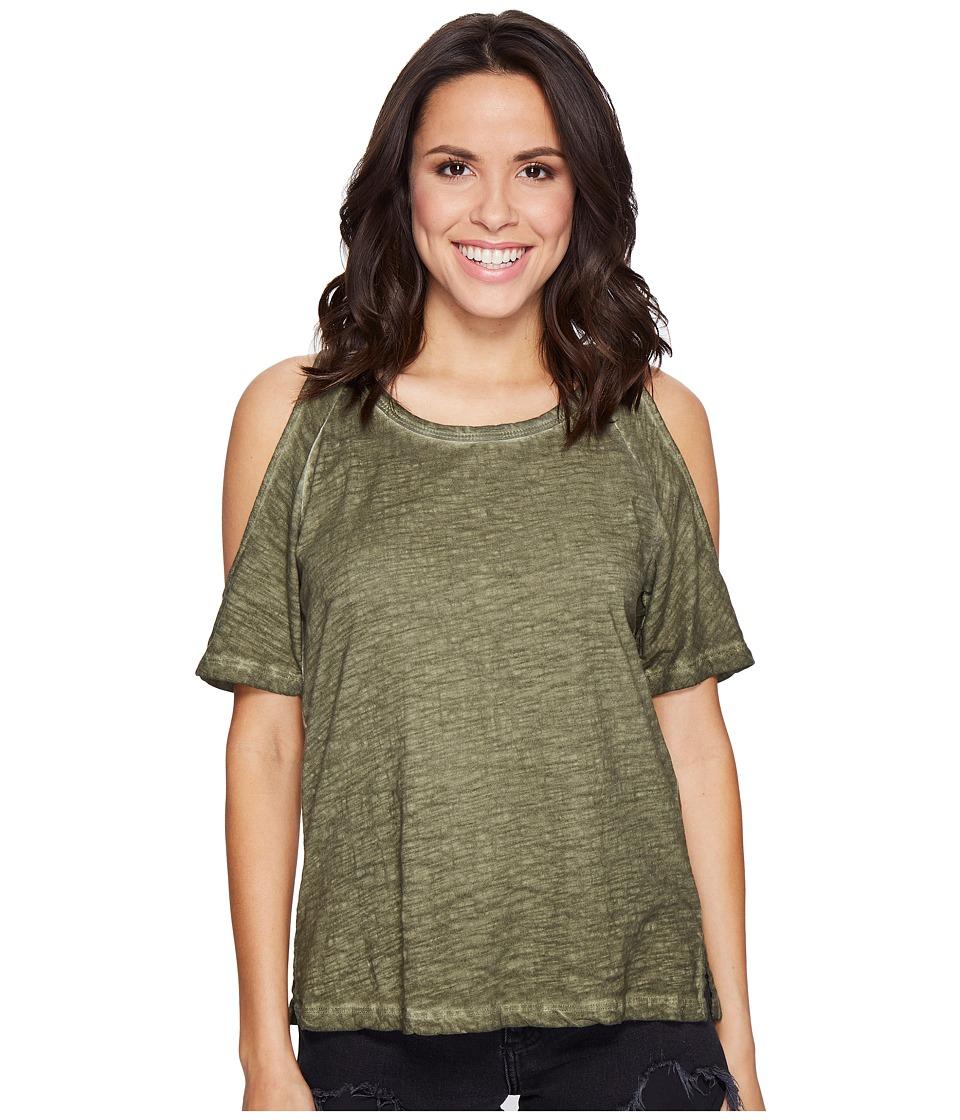 Sanctuary - Lou Bare Shoulder Tee (Cadet) Womens T Shirt