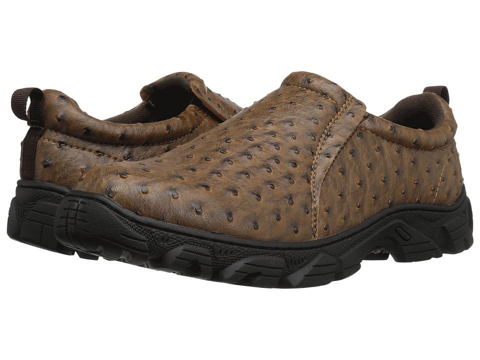 Roper Cotter (Faux Leather Ostrich Print) Men's Shoes