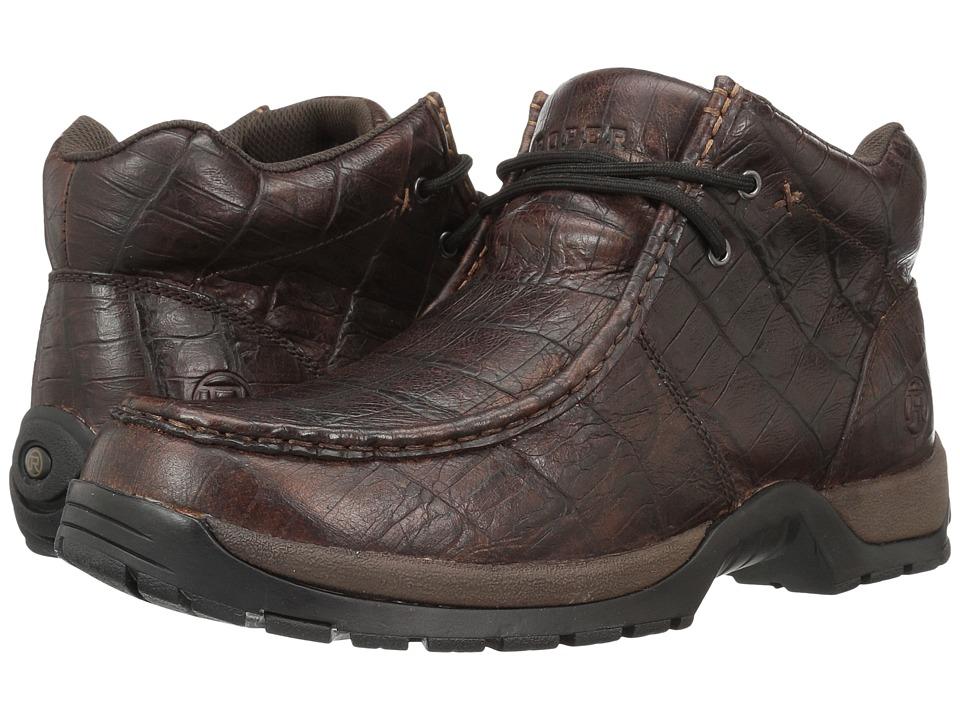 Roper American Gator (Embossed Brown Leather) Men