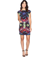 Nicole Miller - Florescent Florals Shift Dress
